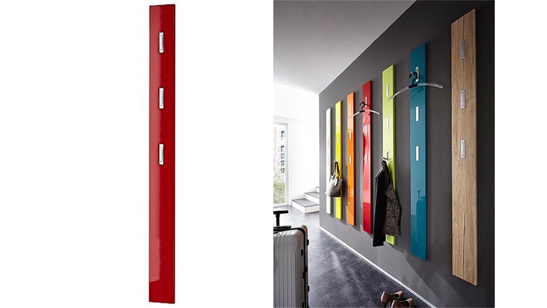 Garderobenpaneel colorado rot hochglanz germania for Garderobenpaneel shop