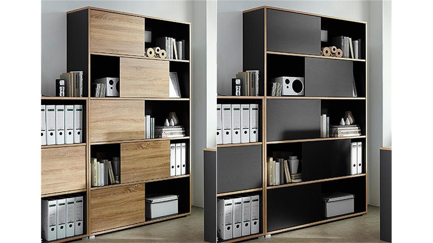 regal 1 shine b roschrank anthrazit sonoma eiche germania. Black Bedroom Furniture Sets. Home Design Ideas