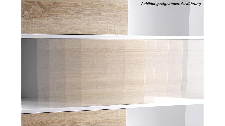 Regal 2 Shine Schiebetürenregal Büroschrank anthrazit und Sonoma Eiche Germania