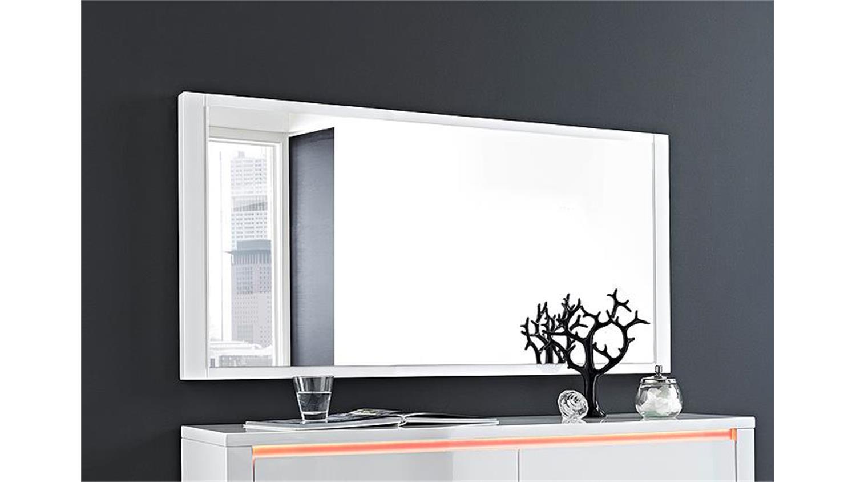 spiegel chicago wandspiegel in wei hochglanz 120x60. Black Bedroom Furniture Sets. Home Design Ideas