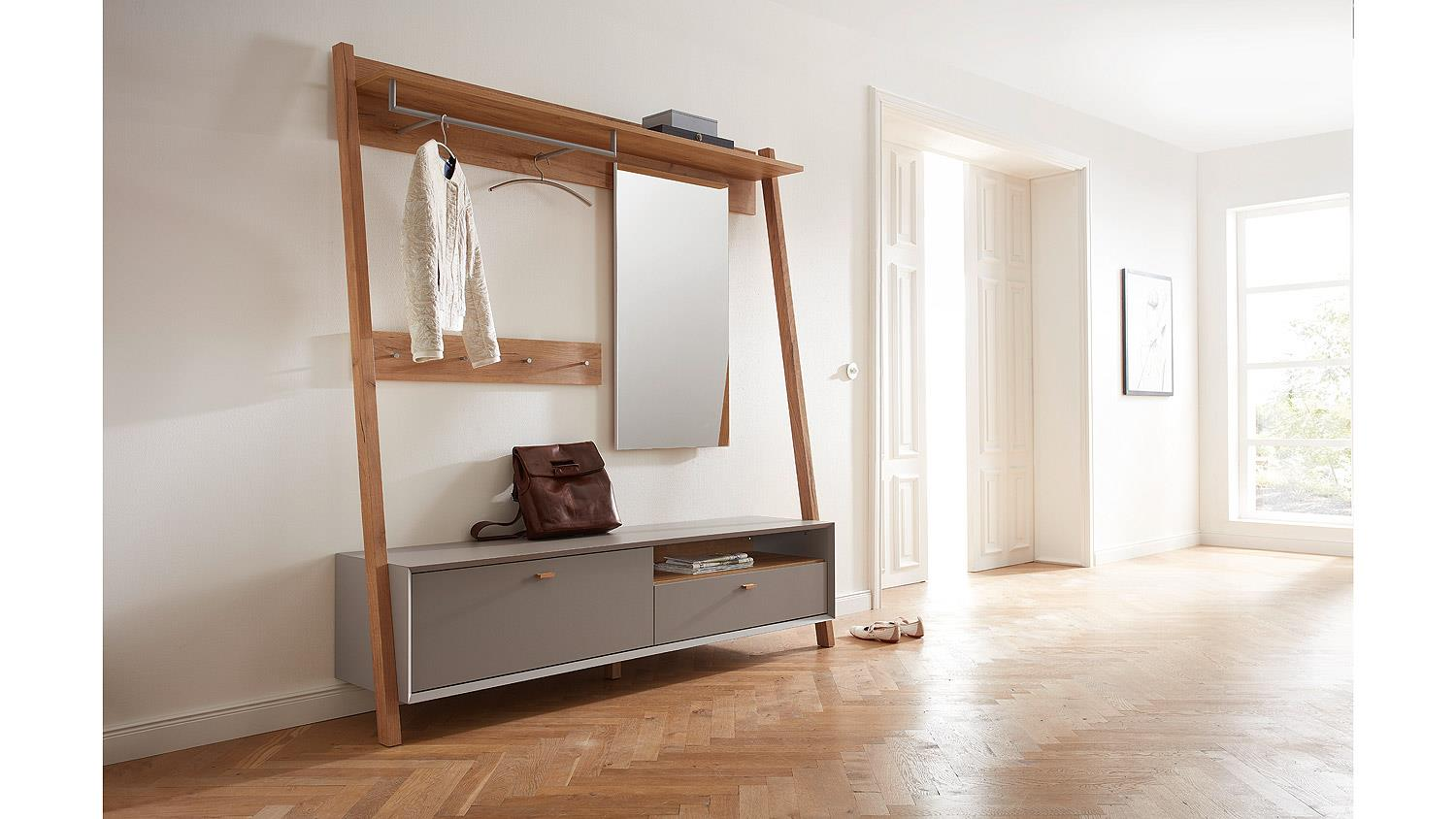 garderobe calvi flurm bel in steingrau navarra eiche von germania. Black Bedroom Furniture Sets. Home Design Ideas