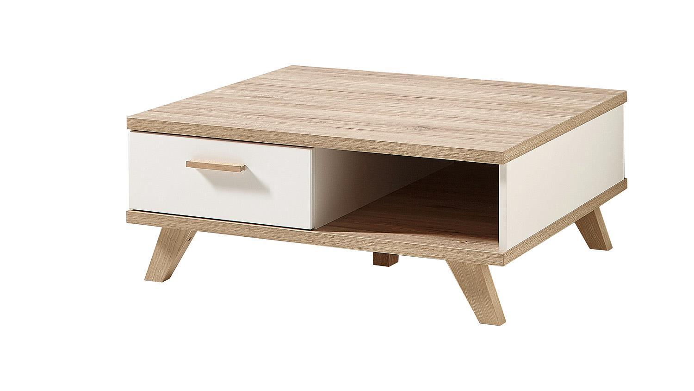 couchtisch oslo wohnzimmer tisch wei matt sanremo eiche von germania. Black Bedroom Furniture Sets. Home Design Ideas