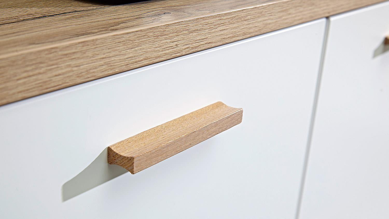 Büroschrank weiß matt  OSLO Büroschrank in weiß matt Sanremo Eiche von Germania