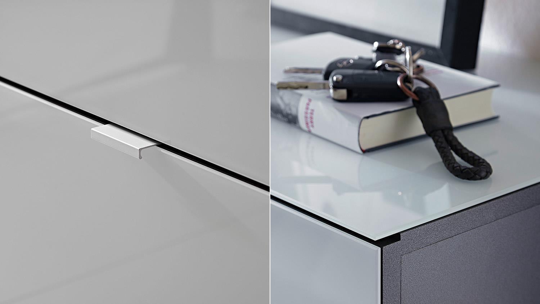 Schuhschrank Alameda Garderobe In Weiss Glas Und Anthrazit Von Germania