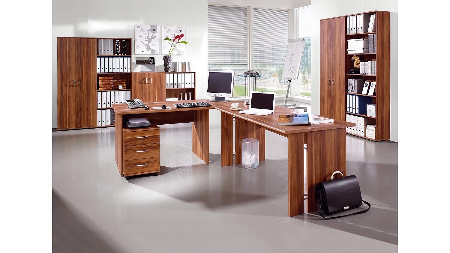 aktenschrank power b roschrank schrank in walnuss von. Black Bedroom Furniture Sets. Home Design Ideas