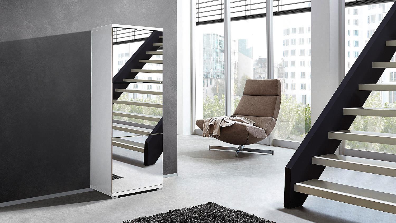 schuhschrank colorado garderobe in wei mit spiegel von. Black Bedroom Furniture Sets. Home Design Ideas