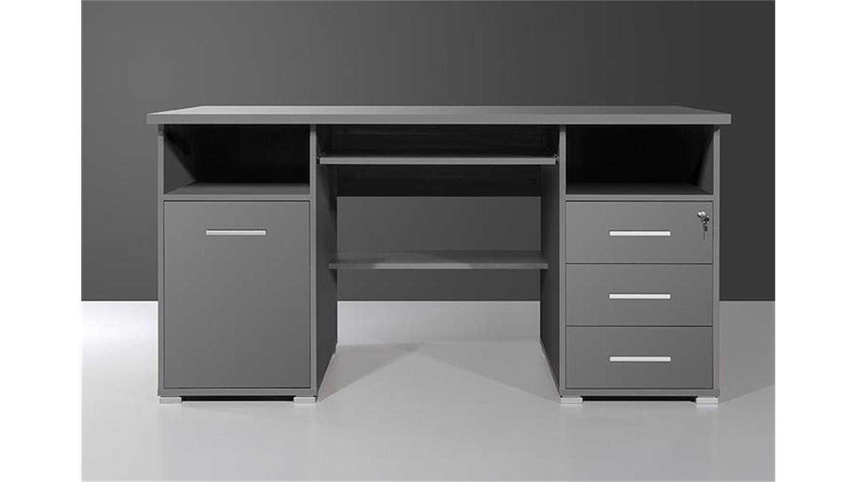 Schreibtisch 0484 in anthrazit abschlie bar germania for Schreibtisch 0484