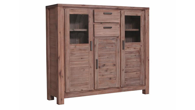 highboard tunis akazie teilmassiv sandfarbig. Black Bedroom Furniture Sets. Home Design Ideas