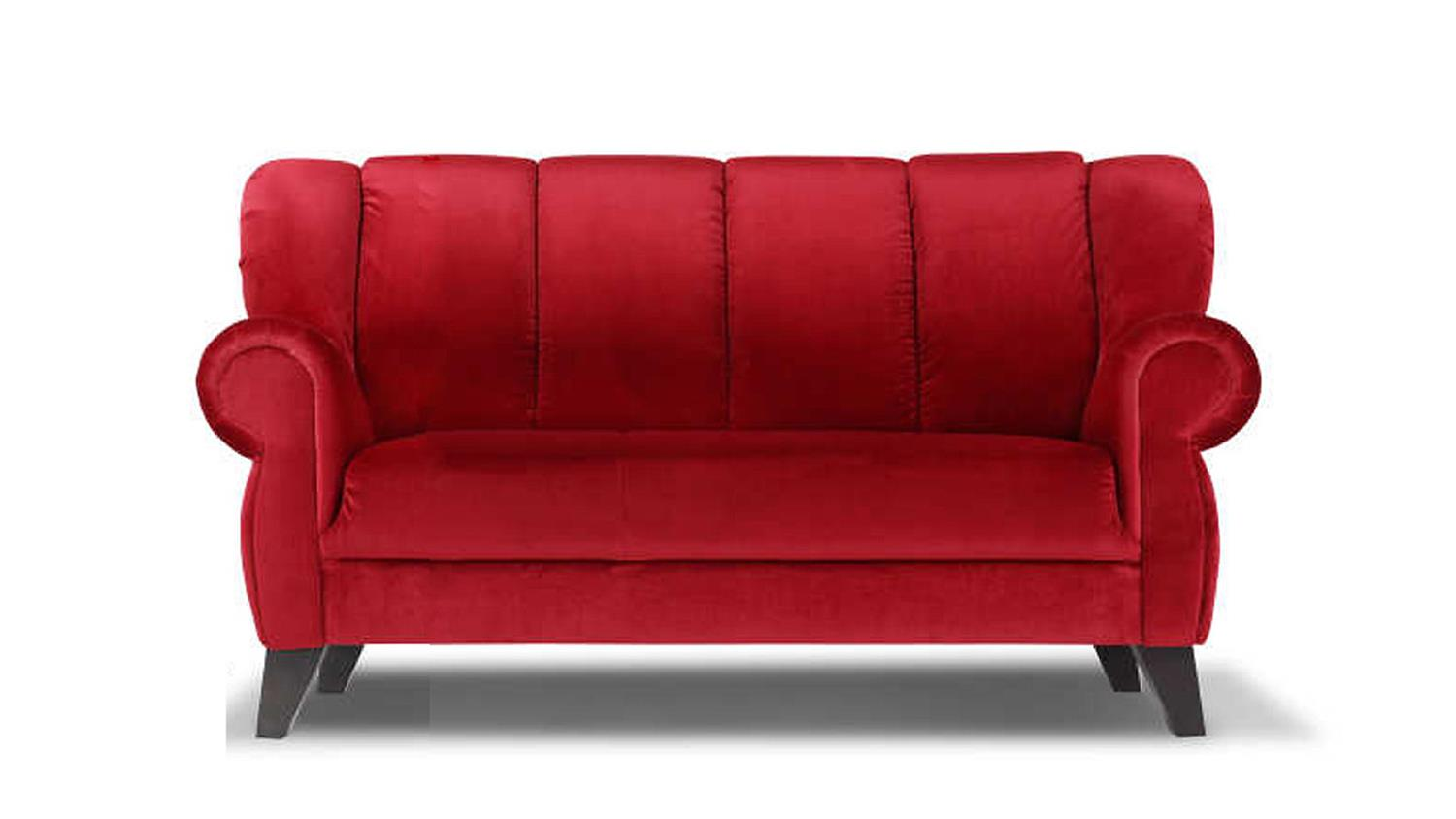 speisesofa dinner sofa 2 sitzer polsterm bel rot kolonial. Black Bedroom Furniture Sets. Home Design Ideas