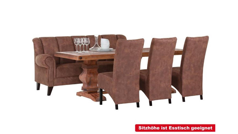 speisesofa dinner sofa 2 sitzer polsterm bel rot kolonial. Black Bedroom Furniture Sets. Home Design Ideas
