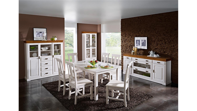 esstisch rudolf ausziehbar 150 197 cm kiefer massiv wei. Black Bedroom Furniture Sets. Home Design Ideas
