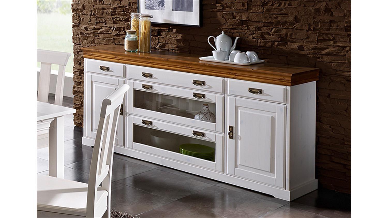 sideboard rudolf kiefer massiv wei gewachst honig lackiert. Black Bedroom Furniture Sets. Home Design Ideas