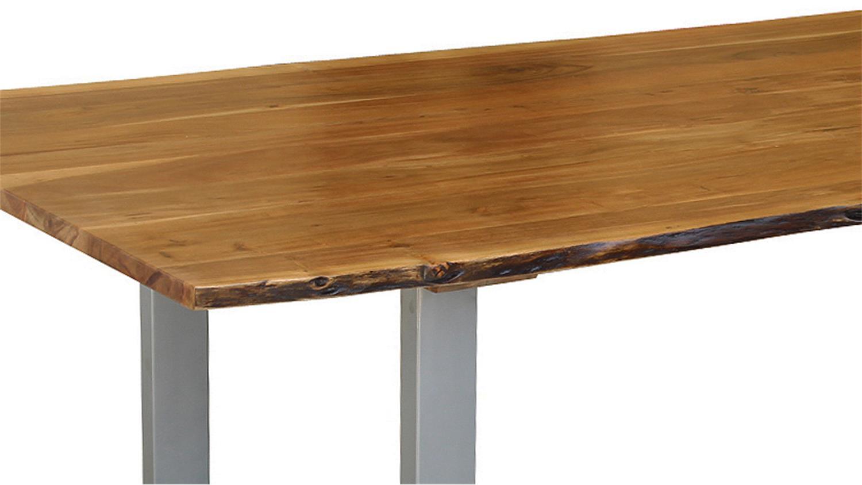 Tischplatte massivholz baumkante  Tisch Agra 160x90 cm Akazie mit Baumkante