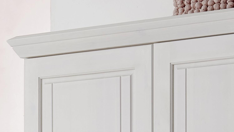 Kleiderschrank ODETTE Babyzimmer Schrank in Kiefer weiß massiv