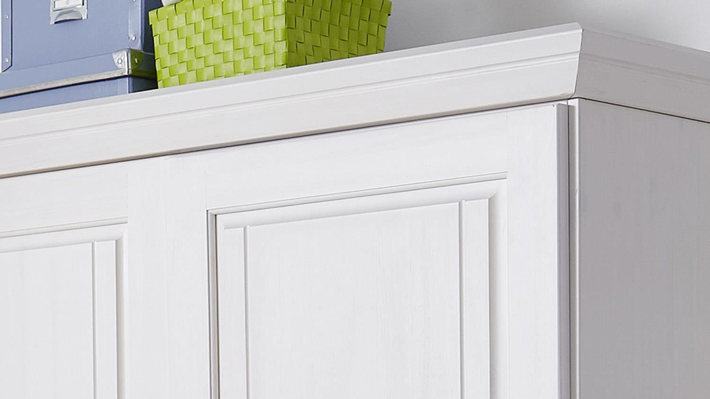 w scheschrank odette kleiderschrank kiefer massiv wei. Black Bedroom Furniture Sets. Home Design Ideas