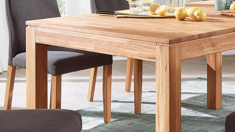 esstisch geka auszugstisch tisch wildeiche massiv ge lt 160 290x90 cm. Black Bedroom Furniture Sets. Home Design Ideas