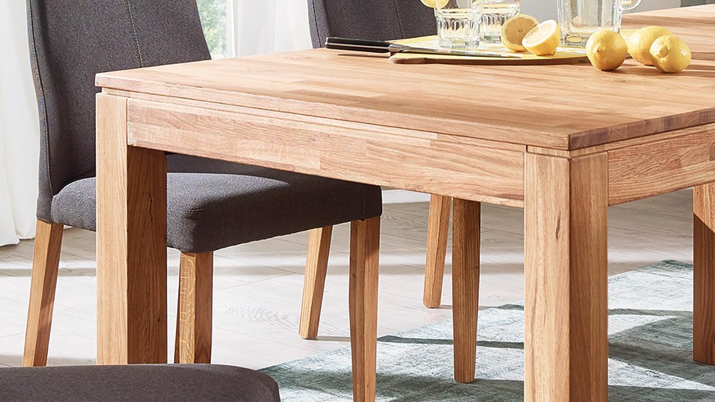 auszugstisch holm esstisch tisch wildeiche massiv ge lt 160 240x90 cm. Black Bedroom Furniture Sets. Home Design Ideas