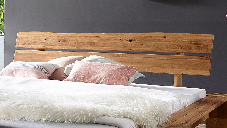 Balkenbett Grip Doppelbett Bett In Wildeiche Massiv Geölt 180x200 Cm