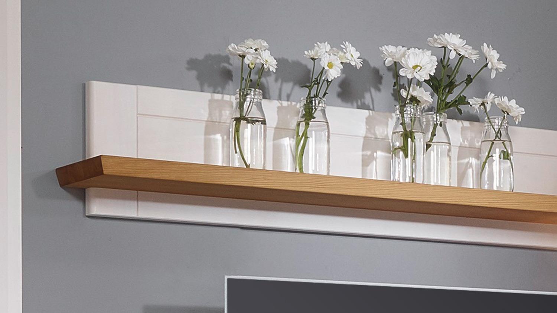 wandboard glora wandregal kiefer massiv wei gewachst. Black Bedroom Furniture Sets. Home Design Ideas