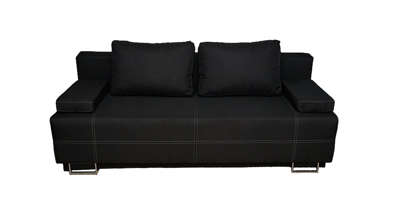 schlafsofa faly sofa in schwarz und wei chrom bettfunktion. Black Bedroom Furniture Sets. Home Design Ideas