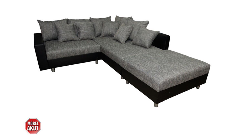 ecksofa claudia mit hocker braun ottomane rechts. Black Bedroom Furniture Sets. Home Design Ideas