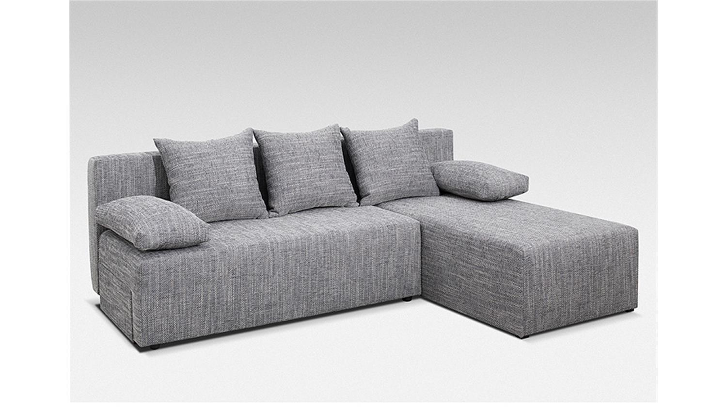 Ecksofa jolly in lawa grau mit schlaffunktion 197x150 cm for Ecksofa 150 x 200
