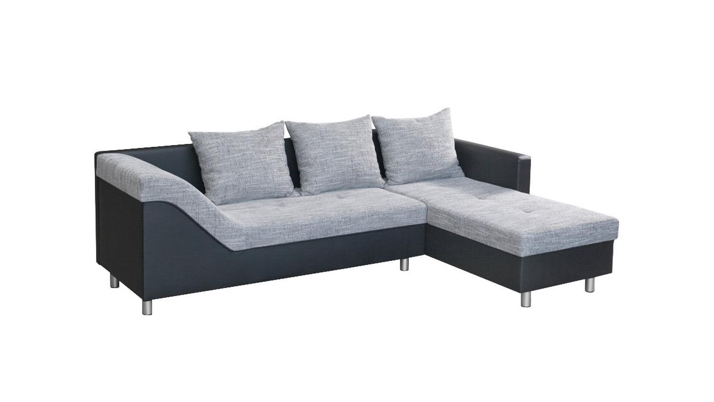 Ecksofa Swago Wohnlandschaft Sofa Polstermobel Schwarz Und Hell Grau