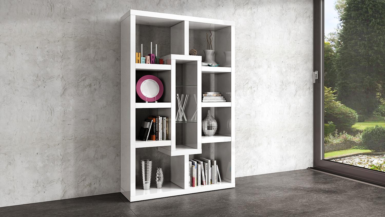 Top KANTRI Bücherregal in weiß Hochglanz lackiert AB24