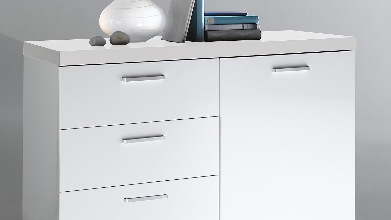 kommode tonic schrank in wei hochglanz lackiert. Black Bedroom Furniture Sets. Home Design Ideas