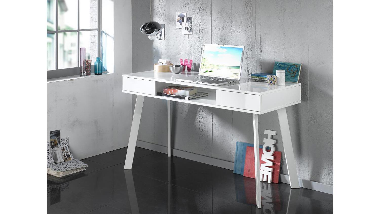 laptoptisch 6235 schreibtisch computertisch in wei hochglanz lack. Black Bedroom Furniture Sets. Home Design Ideas