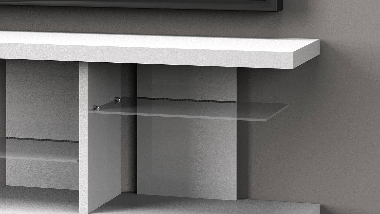tv board media 6125 hifi m bel in wei hochglanz lackiert. Black Bedroom Furniture Sets. Home Design Ideas
