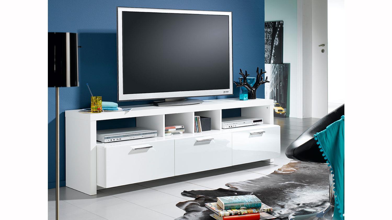 tv board mediabank lowboard hochglanz wei lackiert. Black Bedroom Furniture Sets. Home Design Ideas