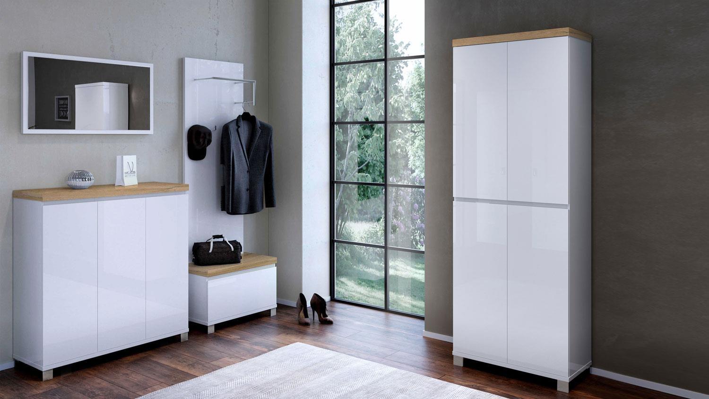 spiegel 1617 thila wandspiegel wei hochglanz lack 90x50. Black Bedroom Furniture Sets. Home Design Ideas