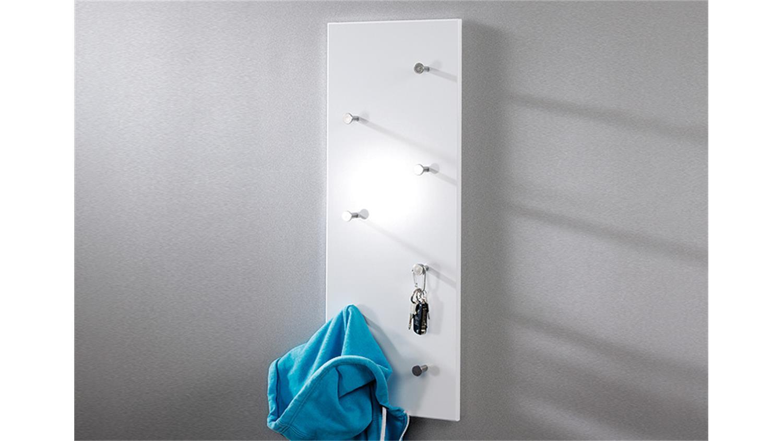 wandgarderobe 42390 in wei hochglanz und chrom nickel. Black Bedroom Furniture Sets. Home Design Ideas