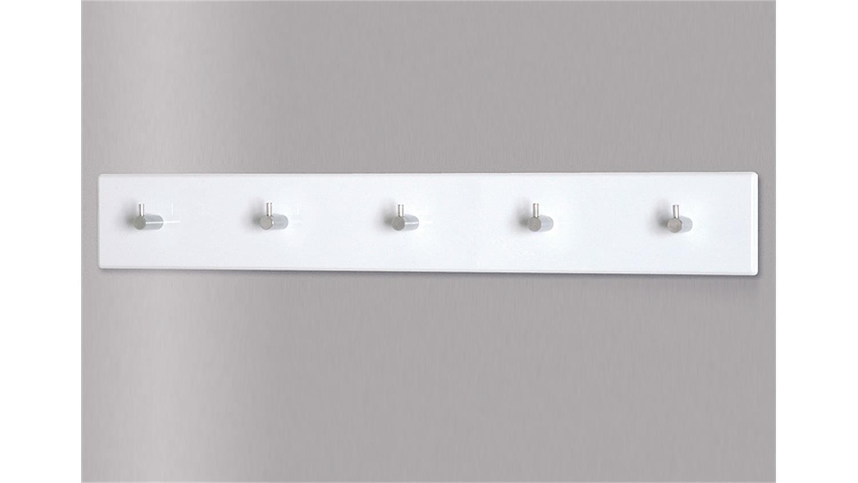 Top Garderobenleiste 42357 Garderobenhaken in weiß und Chrom LL73