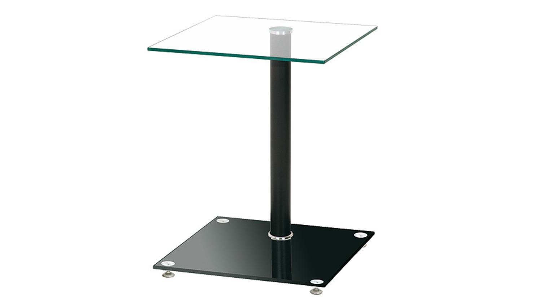 Beistelltisch 33505 glas schwarz lackiert und glas klar for Beistelltisch design schwarz