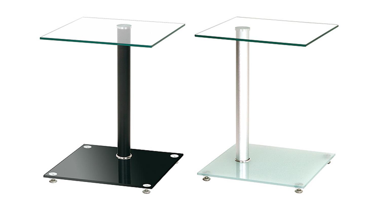 beistelltisch 33505 mit schwarz lackiertem gestell und glas. Black Bedroom Furniture Sets. Home Design Ideas