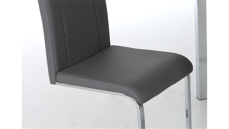schwingstuhl josy 4er set stuhl schwinger grau und chrom. Black Bedroom Furniture Sets. Home Design Ideas