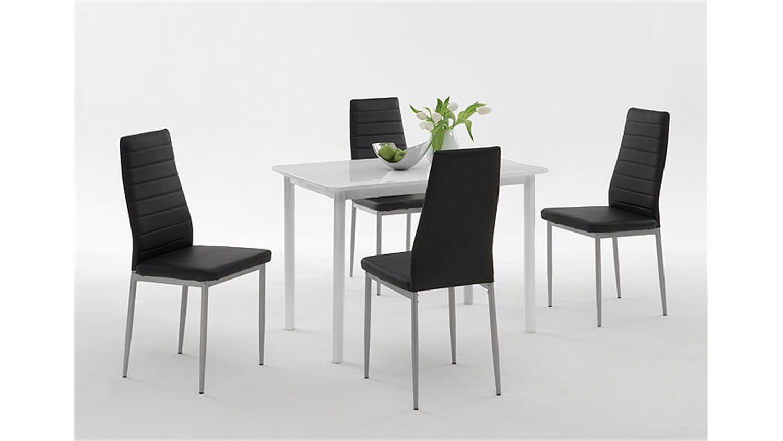 4er set stuhl simone rot bordeaux alufarben. Black Bedroom Furniture Sets. Home Design Ideas