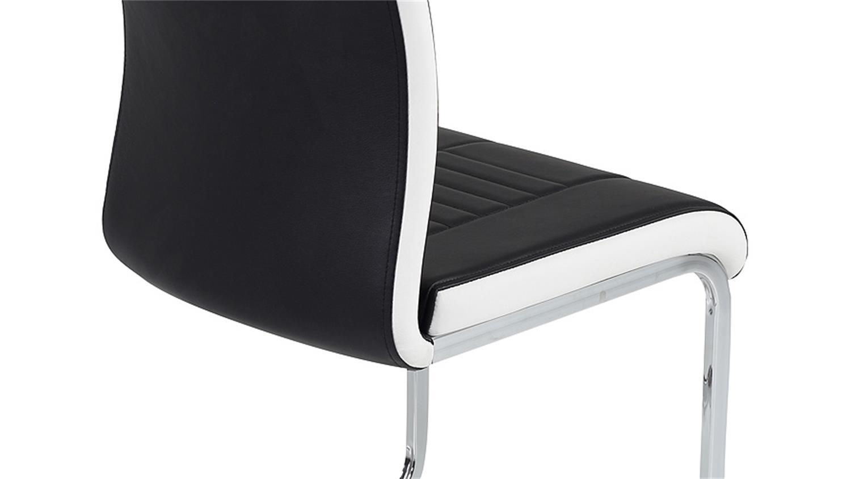schwingstuhl tabea freischwinger 4er set mit griff schwarz chrom. Black Bedroom Furniture Sets. Home Design Ideas