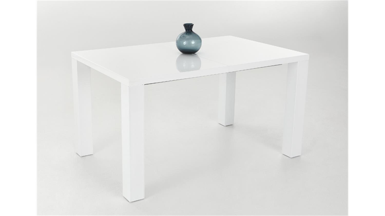 esstisch joline 140x90 wei hochglanz lackiert ausziehbar. Black Bedroom Furniture Sets. Home Design Ideas