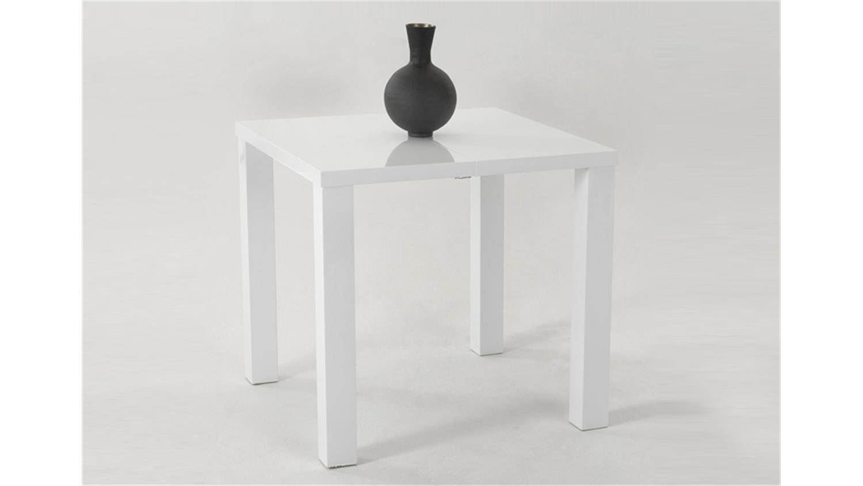 Esstisch ausziehbar weiß klein  JOLINE 80x80 Weiß Hochglanz lackiert, ausziehbar