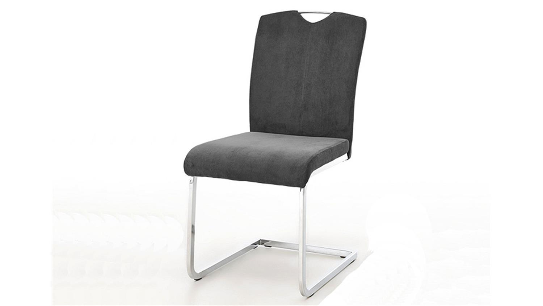 schwingtuhl babett 4er set cordstoff anthrazit. Black Bedroom Furniture Sets. Home Design Ideas