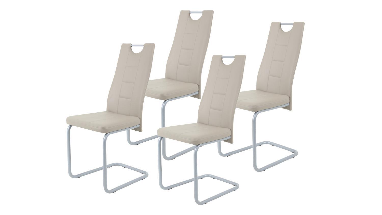 Lovely Stuhle Esszimmer Beige #10: Schwingstuhl KIRSTEN 4er Set Esszimmer Stuhl Cappuccino Beige