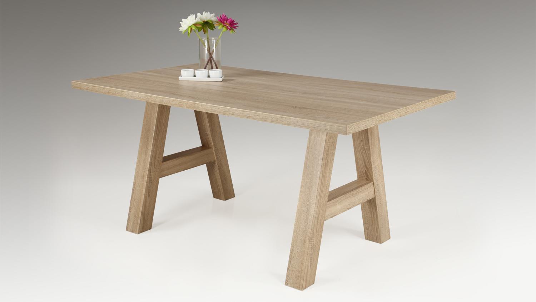 Esstisch ALMAT Tisch mit Stollen in A-Form Sonoma Eiche