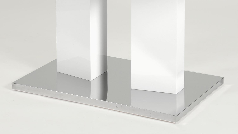 esstisch madson in mdf wei hochglanz lackiert ausziehbar. Black Bedroom Furniture Sets. Home Design Ideas