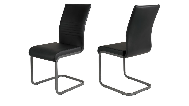 4er set schwingstuhl julien stuhl in lederlook schwarz und. Black Bedroom Furniture Sets. Home Design Ideas