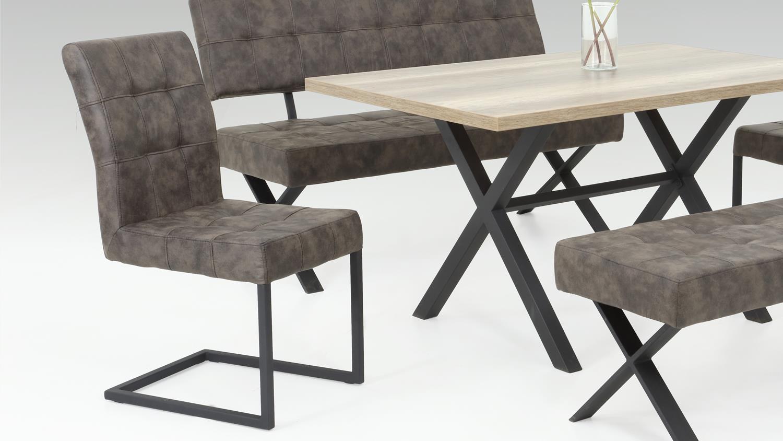 2er set schwingstuhl denna stuhl in vintage braun und. Black Bedroom Furniture Sets. Home Design Ideas