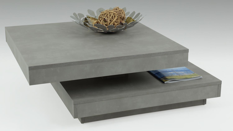Couchtisch ben in betonoptik tisch drehbare platte for Couchtisch in betonoptik