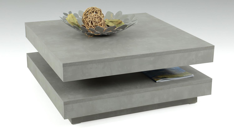 couchtisch ben in betonoptik tisch drehbare platte